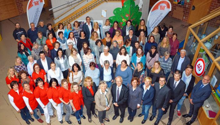 Das Team der Nachbarschaftshilfe: Herzlich willkommen zum Tag der offenen Tür! Foto: re