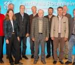 Im Einsatz für die Natur: Landrat Wolfgang Berthaler und der Naturschutzbeirat.