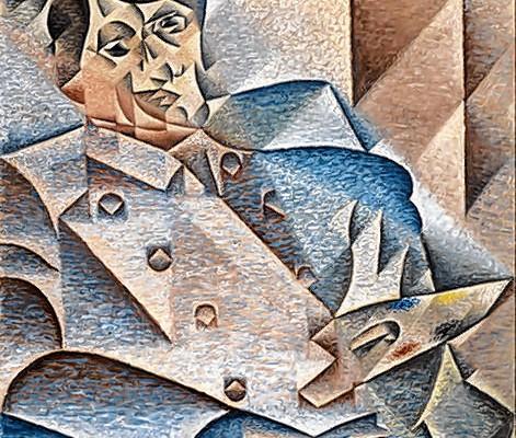 Pablo Picasso begründete den Kubismus mit. Dieses Werk von Juan Gris ist eine Hommage an den Künstler.