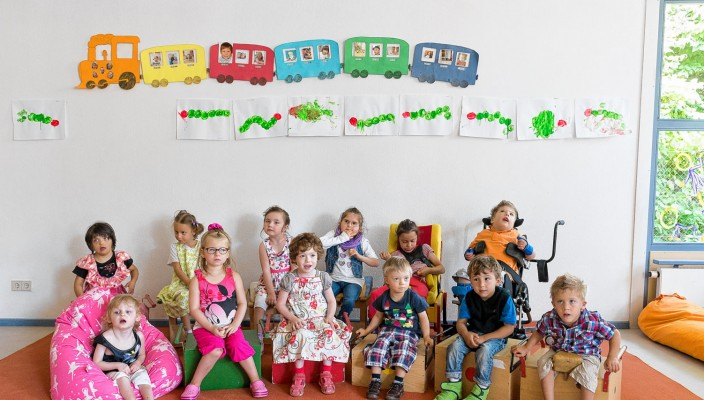 Kindergruppe im FortSchritt Petö-Kindergarten Rosenheim. Foto: FortSchritt