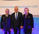 Von links sind zu sehen: Polizeipräsident Robert Kopp, Staatsminister für Sport und Integration Joachim Herrmann und Oberbürgermeisterin Gabriele Bauer. Foto: Albert Goike