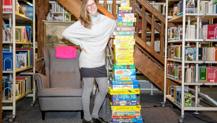Das Sortiment an Brettspielen wurde aufgestockt - für die Neuanschaffungen hat Büchereileiterin Bernadette Binder in diesem Jahr 500 Euro budgetiert.