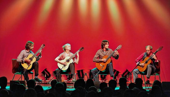 """Die vier Ausnahmemusiker haben sich zum """"Machado Quartett"""" zusammengefunden."""