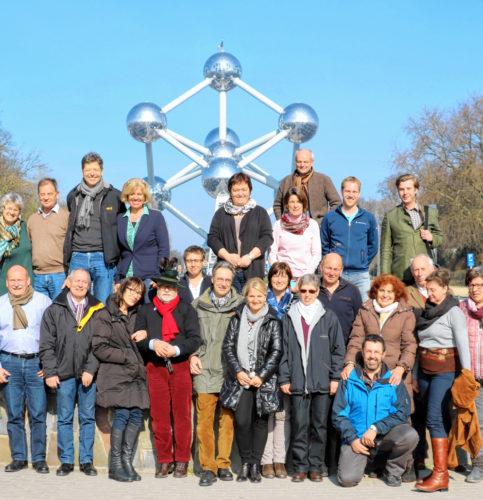 Die Reisegruppe aus der Region unterwegs in Brüssel.