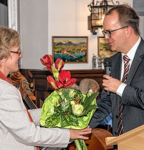 Elisabeth Jordan, SPD-Unterbezirksvorsitzende, Stadt- und Bezirksrätin, mit Markus Rinderspacher, MdL.