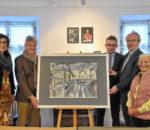Von links: Monika Hauser, Rudolf Eberhardt, Walter Leicht, Robert Berberich und Louise Kaufmann. Foto: Schlecker