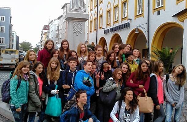 Die Besuchergruppe aus Lazise unterwegs in Rosenheim.