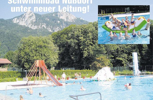Badespaß im sonnigen Nußdorfer Freibad.