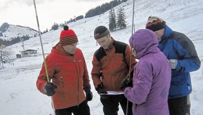 Praxistraining mit dem Ski Club Aising-Pang.