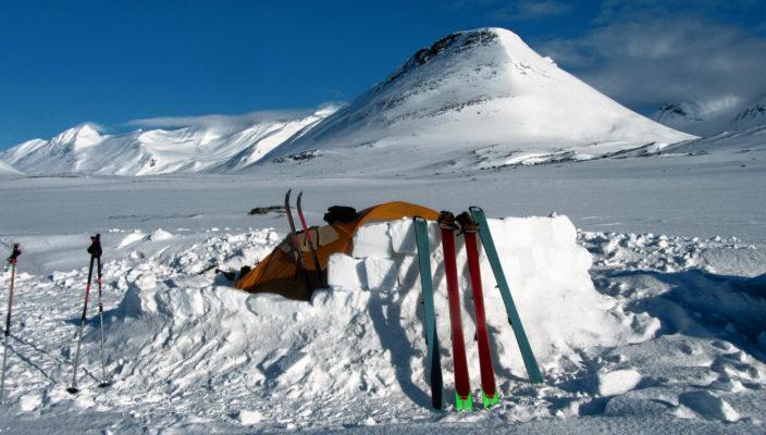 Die Wanderung führte durch Schnee und Eis. Foto: re