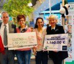 Glückliche Gesichter bei der Spendenübergabe (von links): Brigitte Plank, Hans-Peter Maier, Ulrike Plankl, Christine Domek-Rußwurm und Regine Mickley.