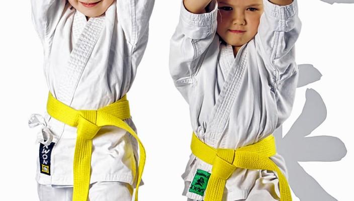 Bei den Karatekursen werden Kraft und Konzentration geschult.