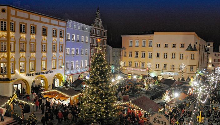 Der Rosenheimer Christkindlmarkt. Foto: ©Stadt Rosenheim Stadtmarketing