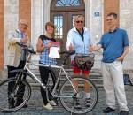 Anton Heindl, Zweiter Bürgermeister von Rosenheim, Maria Bader, Team Kieser Training, die Sieger der Teamwertung, Werner Birkel, Drittplazierter der Einzelwertung und Jürgen Stintzing, Organisator der Stadt Rosenheim (von links).