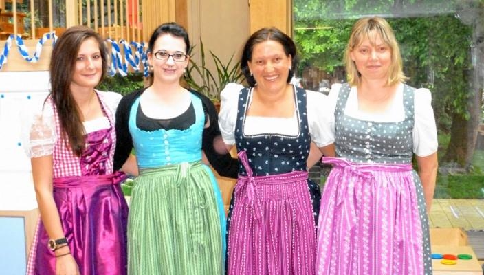 Das freundliche und engagierte Team der Kinderkrippe (von links): Julia Goßner, Lisa Varga, Annette Galler (Leitung) und Beate Richter. Foto: re