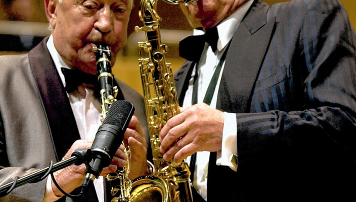 Hugo Strasser und Max Greger – lebende Legenden des Swing.