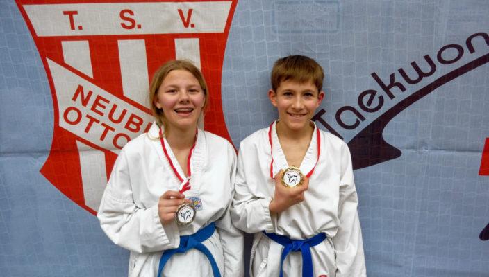 Silber und Gold gab es in Neubiberg für Jessica Meyler und Tobias Rienäcker.