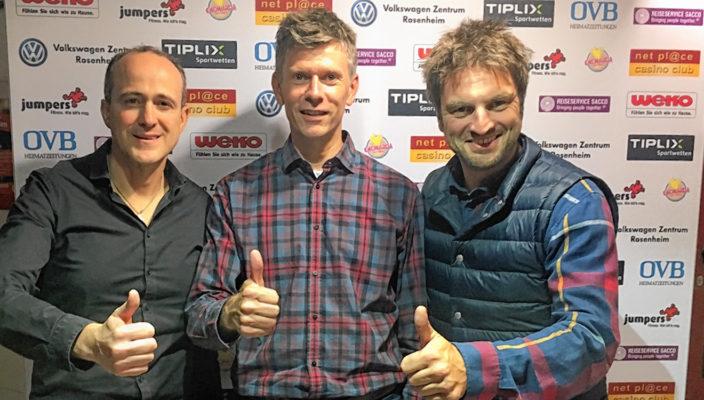 Sandro Sacco, Franz Höhensteiger, Nicolas Foltin, die alte und neue Abteilungsleitung der 60er-Fußballer (von links).