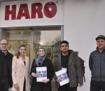 Ein Tag Azubi bei der Firma Hamberger, von links: Marc Simon, Christina Huber, Mejra Halilcevic, Mahdi Khandan, Maximilian Schilling.