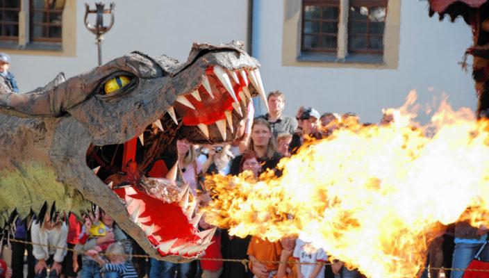 Drachenstreicheln, auch das ist möglich in Bernau.