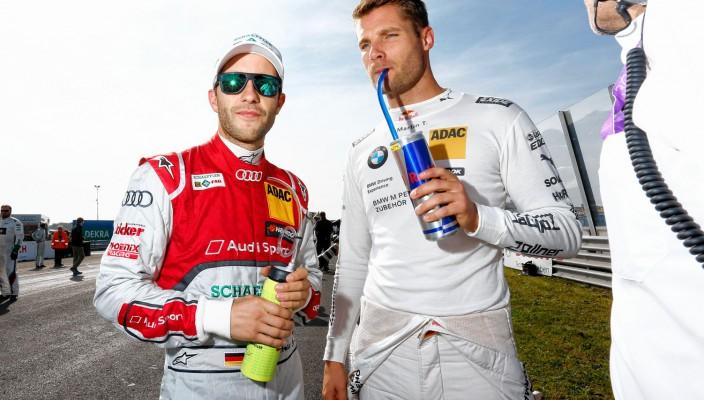Vor dem Rennstart in Zandvoort: Martin Tomczyk und Mike Rockenfeller in der Startaufstellung.