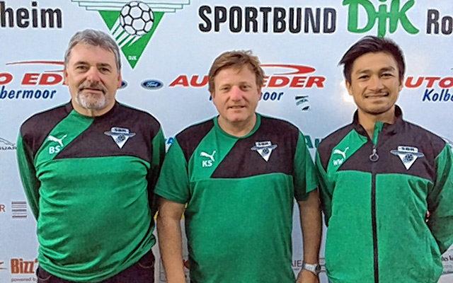 Bepp Stockbauer, Klaus Seidel und Naoto Ishii (von links).