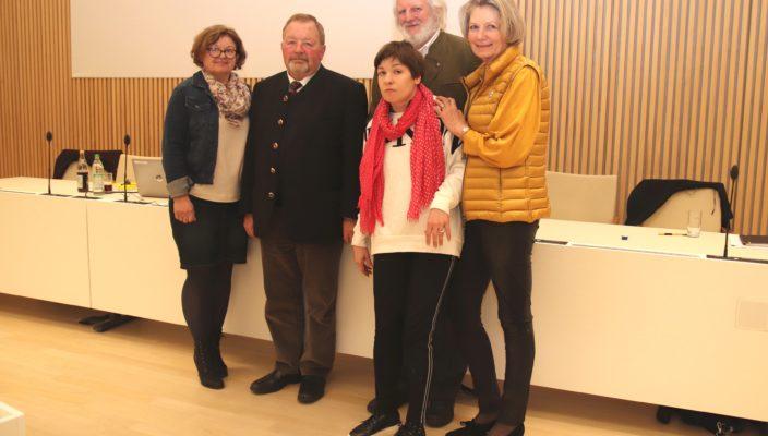 Gemeinsam für die Inklusion (von links): Irene Oberst, Josef Huber, Peter Veth, Christiane Grotz mit Tochter Katharina.