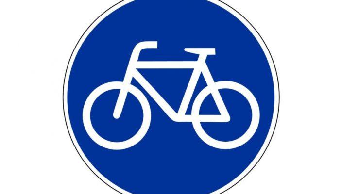 Das Schild weist auf einen ausgewiesenen Fahrradweg hin. Hier gilt für Radler und Pedelecs Benutzungspflicht.