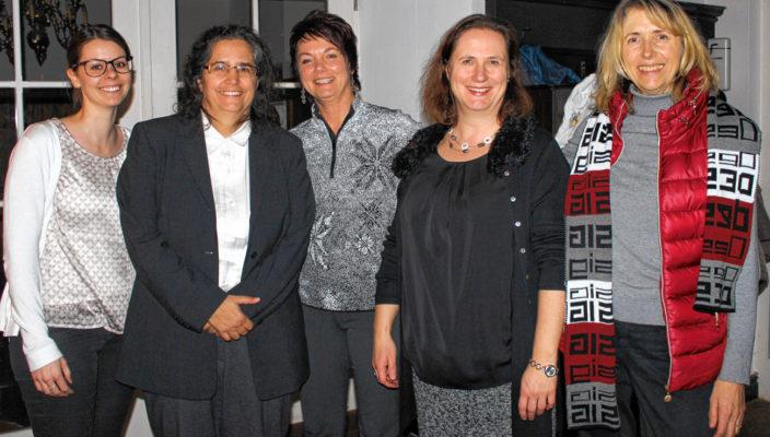 Von links: Daniela Kellerer, Johanna Mathäser, Susanne Schaffer, Christine Budde, Marianne Partenhauser.