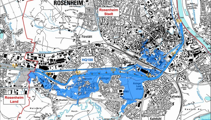 Karte zur Hochwassergefährdung.