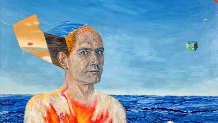 Blick in die Ausstellung von Peter Umrath.