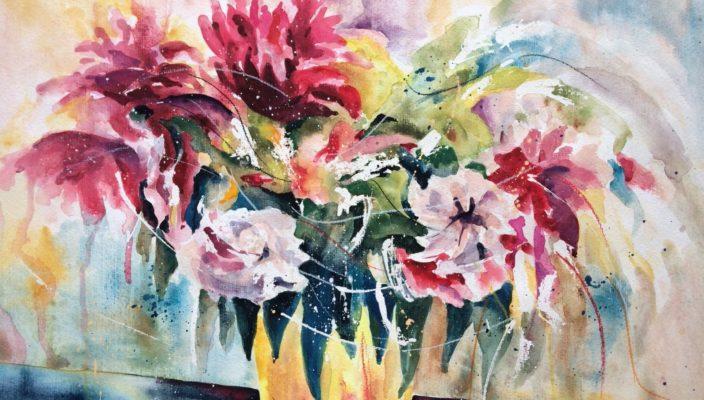 """""""Blumen"""" von Viera Hanus."""