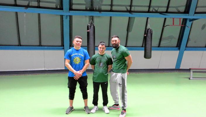 Auf dem Foto die Trainer und Betreuer von V.M.´s Hit Squad Rosenheim, von links: Ramezan Mirzaee (CCT), Artur Sadojan (Kinder-Trainer) und Deniz Ürer (CCT).