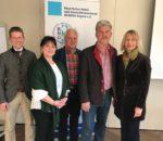 Der neugewählte Vorstand, von links: Rainer Lechner, Regina Huber, Rudi Zellner, Johann Bäuerle und Theresa Albrecht.