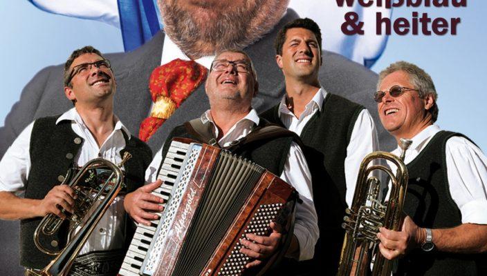 """Musik und Humor vereinen die """"4 Hinterberger Musikanten"""" und Volksschauspieler Winfried Frey."""