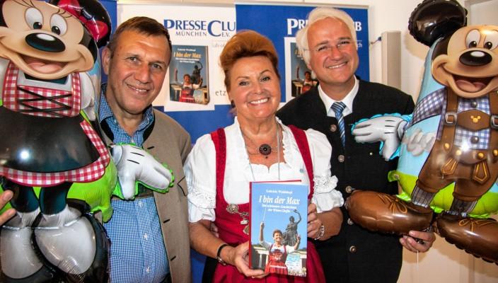 Verleger Klaus G. Förg, Dr. Gabriele Weishäupl und Wolfgang Krebs alias Edmund Stoiber.