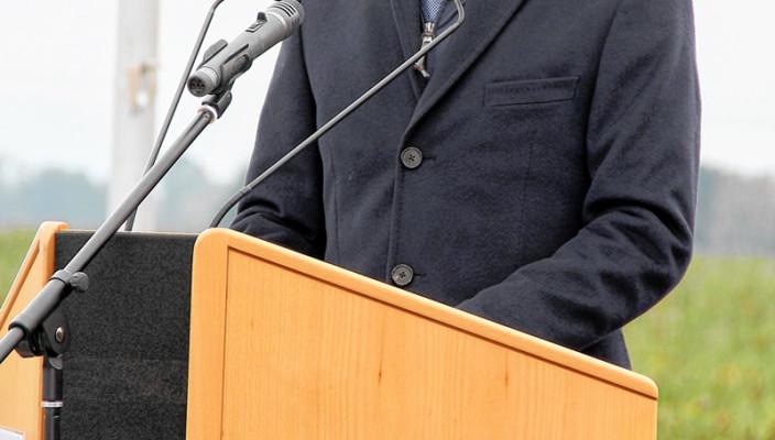 Bundesminister Alexander Dobrindt bei der Eröffnung. Foto: Reisner