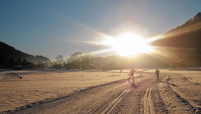 Viele wohl präparierte Loipen warten auf die Langlauffreunde in der Region. Foto: hö