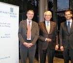 Von links: Michael Lüders, Unternehmer Walter Schatt, Andreas März, Vorsitzender des Wirtschaftsbeirats der Union Bezirk Rosenheim. Foto: re