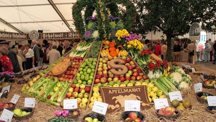 Der Apfelmarkt ist ein Treffpunkt für Liebhaber bayerischer Tradition.