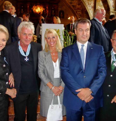 Von links: Gabriele Bauer, Werner Schmidbauer, Karin Söder, MP Dr. Markus Söder und Klaus Stöttner. Foto: Hötzelsperger