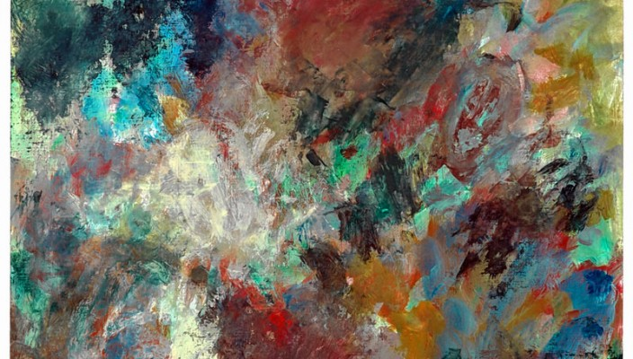 Farbgewaltig: Werk von Fried Stammberger.
