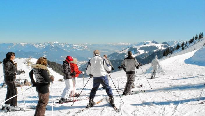 Skifahrer lieben das Sudelfeld. Foto: Schlecker